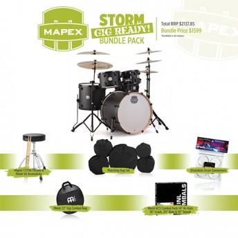 Mapex Storm Drum Kit - Gig Ready Bundle Pack - Textured Black