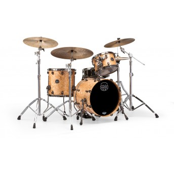 MAPEX – SATURN V MH EXOTIC CLUB 3-PIECE DRUM KIT WITH HARDWARE – NATURAL MAPLE BURL