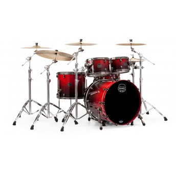 MAPEX – SATURN V MH EXOTIC 4-PIECE DRUM KIT WITH HARDWARE IN FAST SIZES – CHERRY MIST BURL