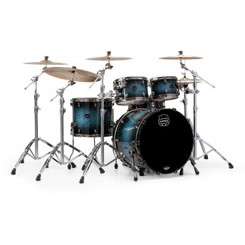 MAPEX – SATURN V MH EXOTIC 4-PIECE DRUM KIT WITH HARDWARE IN FAST SIZES – DEEP WATER MAPLE BURL