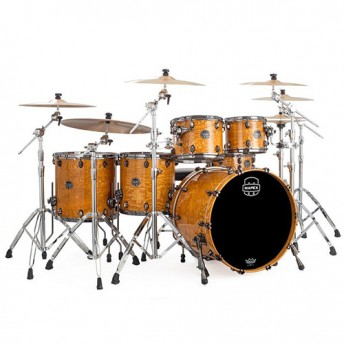 MAPEX – SATURN V MH EXOTIC 5-PIECE DRUM KIT SHELL SET IN FAST SIZES – AMBER MAPLE BURL