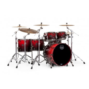 MAPEX – SATURN V MH EXOTIC 5-PIECE DRUM KIT WITH HARDWARE – CHERRY MIST MAPLE BURL