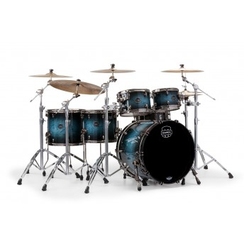 MAPEX – SATURN V MH EXOTIC 5-PIECE DRUM KIT WITH HARDWARE – DEEP WATER MAPLE BURL