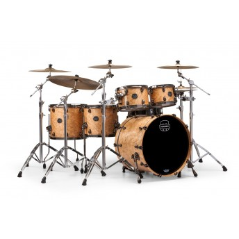 MAPEX – SATURN V MH EXOTIC 5-PIECE DRUM KIT WITH HARDWARE – NATURAL MAPLE BURL