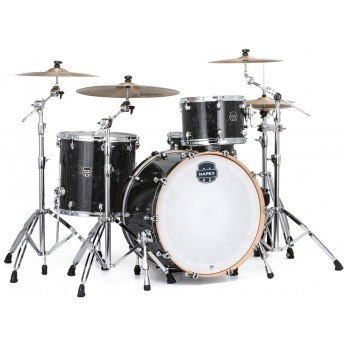 "MAPEX – SATURN V TOUR EDITION 3-PIECE 24"" DRUM KIT WITH HARDWARE – BLACK PEARL"