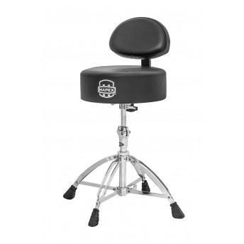 MAPEX - ROUND TOP DRUM THRONE WITH BACK REST AND 4 DOUBLE BRACED - T770A