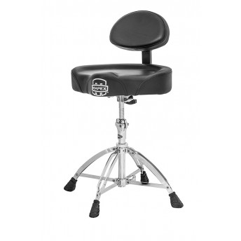 MAPEX - SADDLE  TOP DOUBLE DRUM THRONE W/ BACK REST AND DOUBLE BRACED LEGS - T775