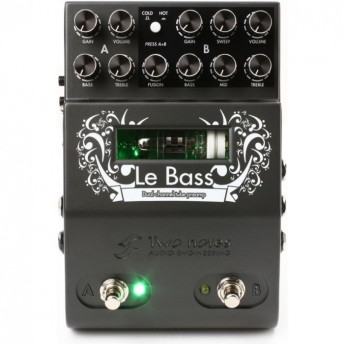 Two Notes Le Bass Dual Channel Bass Tube Preamp Pedal
