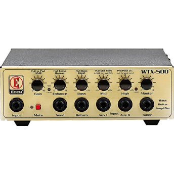 Eden WTX500 X-Class Light Weight 500w Bass Amplifier Head